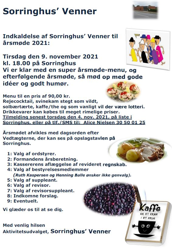Årsmøde 2021 med spisning